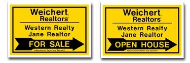Weichert Realtor Twinwall Directional Signs Special Offer