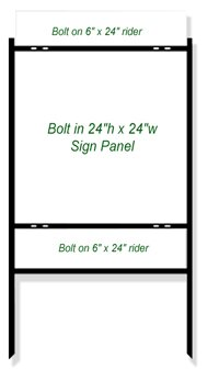 real estate sign frames 24 x 24 castle sign frames. Black Bedroom Furniture Sets. Home Design Ideas
